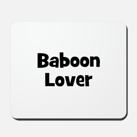 Baboon Lover Mousepad