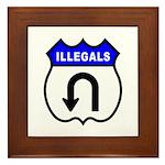 Illegals U Turnaround Framed Tile