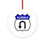 Illegals U Turnaround Ornament (Round)