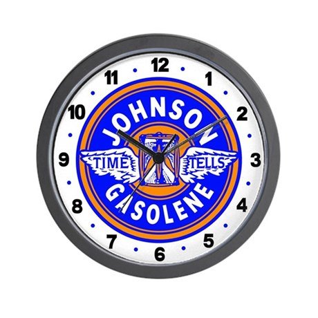 Johnson Gasolene Wall Clock