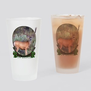 bow hunter, trophy buck Pint Glass