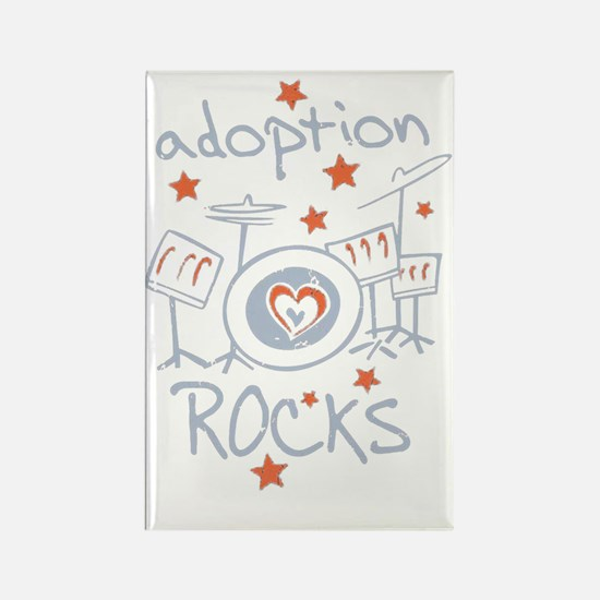 Unique Adoption rocks Rectangle Magnet