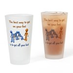 The Best Way Pint Glass