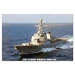 USS CURTIS WILBUR Large Poster