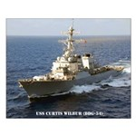 USS CURTIS WILBUR Small Poster