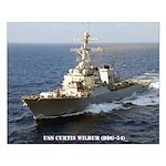 USS CURTIS WILBUR Small Poster