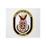 USS CURTIS WILBUR Throw Blanket