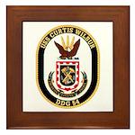USS CURTIS WILBUR Framed Tile