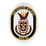 USS CURTIS WILBUR Ornament (Oval)