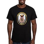 USS CURTIS WILBUR Men's Fitted T-Shirt (dark)