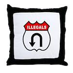 Illegals U TurnAround Throw Pillow