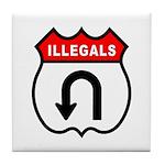 Illegals U TurnAround Tile Coaster