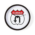 Illegals U TurnAround Wall Clock