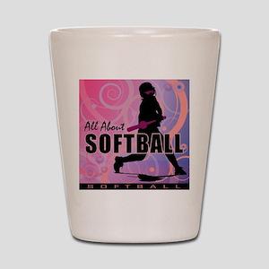 2011 Softball 107 Shot Glass