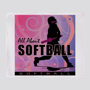 2011 Softball 107 Throw Blanket
