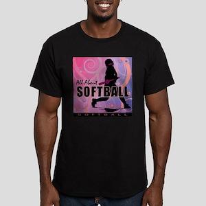 2011 Softball 107 Men's Fitted T-Shirt (dark)