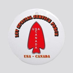 SOF - 1st Special Service Force - USA - Canada Orn