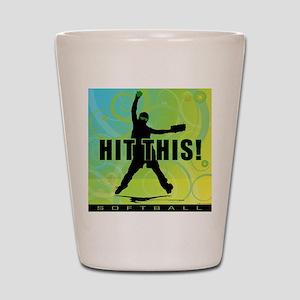 2011 Softball 96 Shot Glass