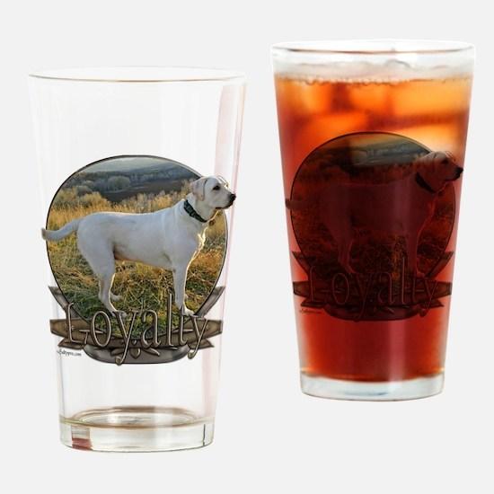 White lab loyalty Drinking Glass