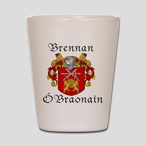 Brennan in Irish/English Shot Glass