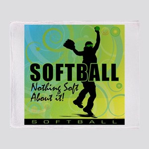 2011 Softball 84 Throw Blanket