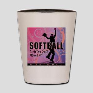 2011 Softball 82 Shot Glass