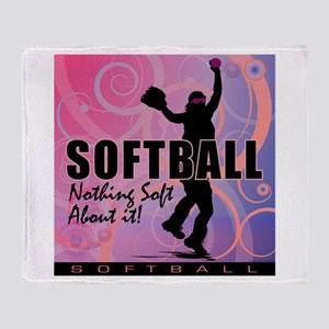 2011 Softball 82 Throw Blanket