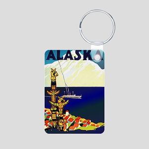 Alaska Poster Aluminum Photo Keychain