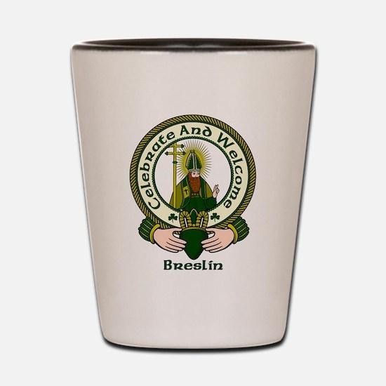 Breslin Clan Motto Shot Glass