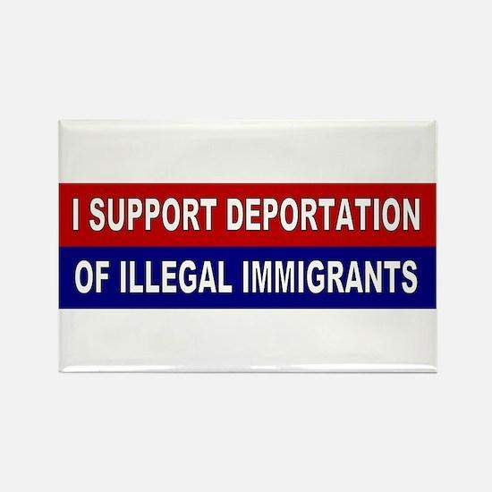 Support Deportation Rectangle Magnet