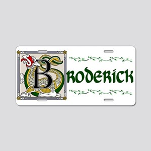 Broderick Illuminated Art Aluminum License Plate