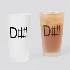 D fence Pint Glass