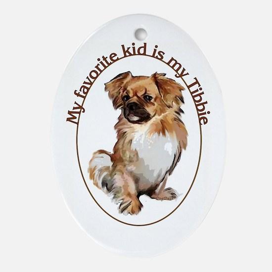 Tibbie Kid Oval Ornament