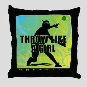 2011 Softball 21 Throw Pillow