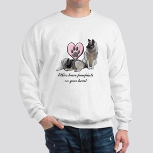 Elkie Pawprints Sweatshirt