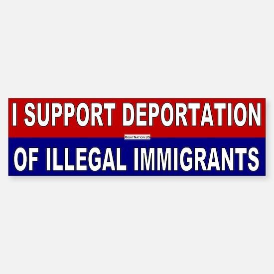 Support Deportation Sticker (Bumper)