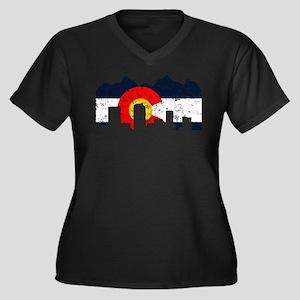 Denver, Colorado Flag Distressed Women's Plus Size