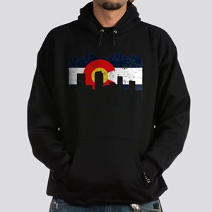 Denver, Colorado Flag Distressed Hoodie (dark)