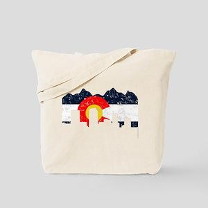 Denver, Colorado Flag Distressed Tote Bag
