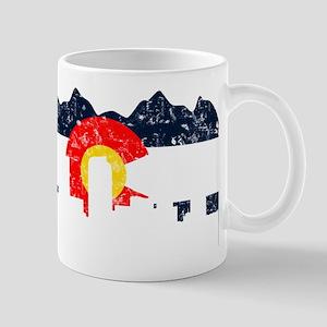 Denver, Colorado Flag Distressed Mug