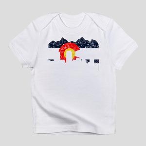 Denver, Colorado Flag Distressed Infant T-Shirt