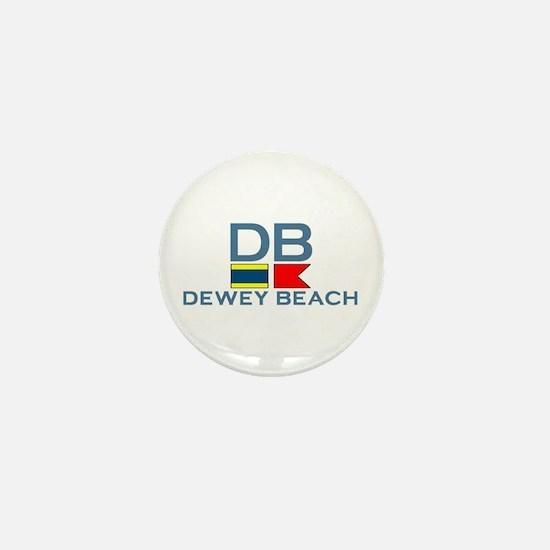 Dewey Beach DE - Nautical Design Mini Button