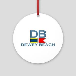 Dewey Beach DE - Nautical Design Ornament (Round)