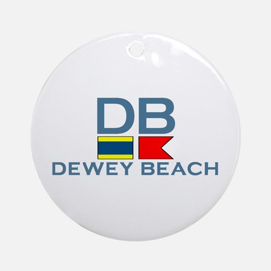 Dewey Beach DE - Nautical Design Ornament (Round)
