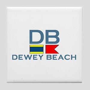 Dewey Beach DE - Nautical Design Tile Coaster