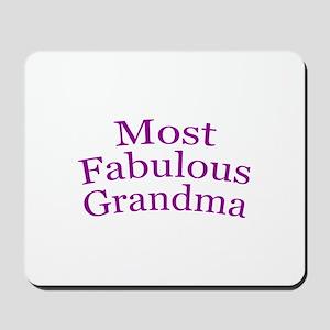 Most Fabulous Grandma Mousepad