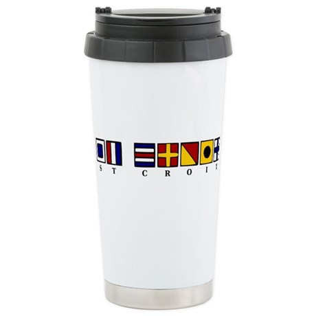 Nautical St. Croix Stainless Steel Travel Mug