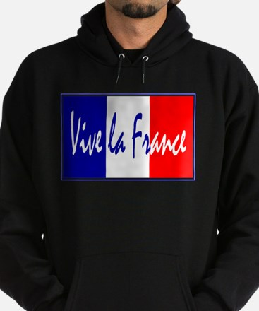 French Flag Vive La France Hoodie (dark)