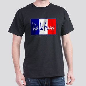 French Flag Vive La France Dark T-Shirt