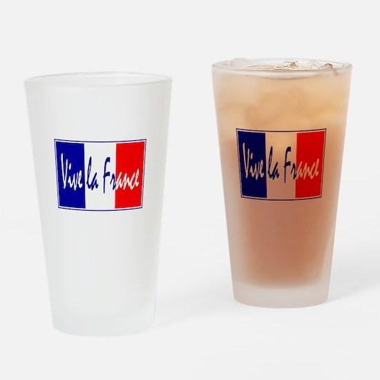 French Flag Vive La France Pint Glass